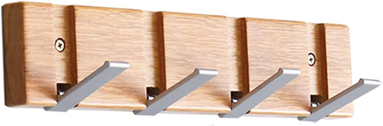 JIANFEI Wall-Mounted Coat Rack Collapsible Hook Up Not Deformed Storage Shelf, Wood (Size   33.5  2  7 cm)