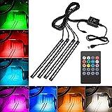 LED Strip - LED Light Strip Car LED Light Strip Car Interior Light Music LED Lighting Kit Underdash Lights with 4Pcs