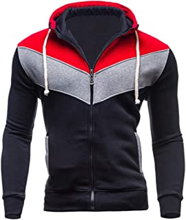 for Men Coat.AIMTOPPY Men's Autumn Winter Casual Long Sleeve Solid Stand Hooded Leather Jacket Outwear