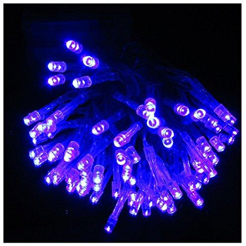 K7plus® LED Lichterkette mit 40 LED blau - Batterie – warmes Licht – transparentes dünnes Kabel - Licht Dekoration wahlweise in blau / rot / weiss / multicolor - Länge ca. 430 cm (blau)