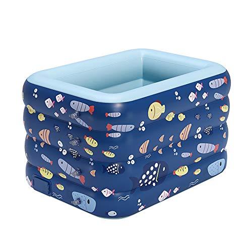 Plegable Verano Piscina Grueso Super Pad Piscina Gran Bañera Inflable Bañera de Niños al Aire Libre para Niños Juguetes,180CM