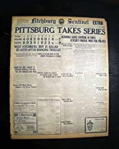 PITTSBURGH PIRATES Wins World Series of Baseball CHAMPIONSHIP 1925 Old Newspaper FITCHBURG SENTINEL-EXTRA, Massachusetts, Oct. 15, 1925