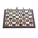 International Chess - Juego de ajedrez de metal con figuras...