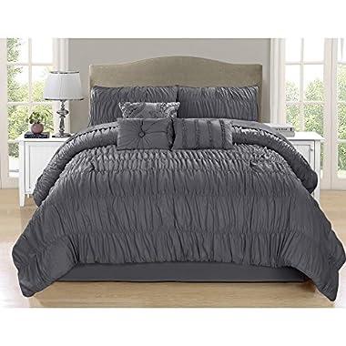 Safdie & Co. Paris Collection 7 Piece Comforter Set, Full/Queen
