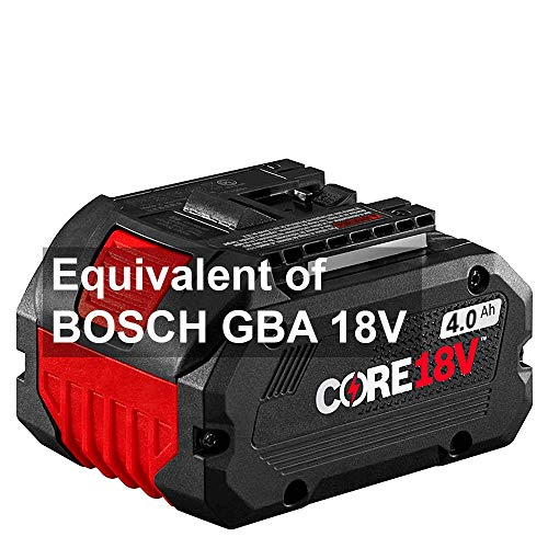EverPowerANR 18V 4.0 Ah Lithium Ion Battery Pack for Bosch GBA 18V40 Core, Performance Battery for Reciprocating Saws, Circular Saws, Grinders and Rotary Hammers + European Hand Cream + e-Book
