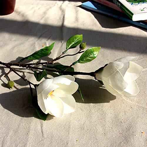 GHWZ Kunstbloemen, 1 tak, fake bloem, planten, decoratie, modern, magnolia tafelblad, bloem, voor huwelijk, Kerstmis, Nieuwjaar, Valentijnsdag, party, Moederdag wit