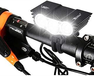 Greneric - Luz LED de ciclismo fácil de montar, compatible con Ipx6 impermeable USB recargable tiempo de funcionamiento 10...