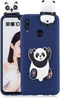 Huawei Honor 10 Lite Cute Lovely Jumping Panda Case Cover - Blue.