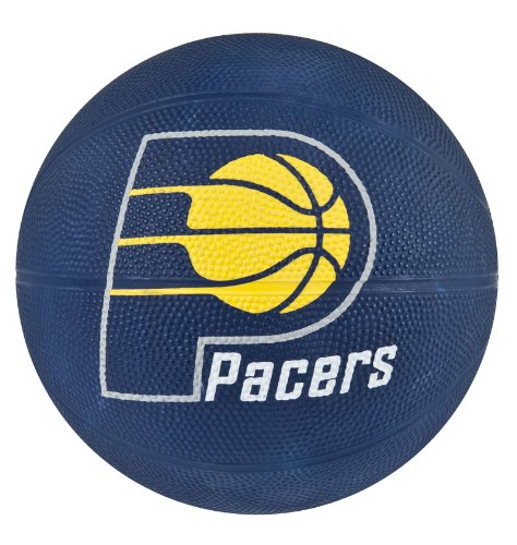 Amazing Deal Spalding NBA Indiana Pacers Mini Rubber Basketball