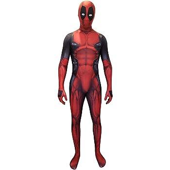 COSPLAY Disfraz del Antihéroe DeadPool Traje ajustado de cuerpo ...
