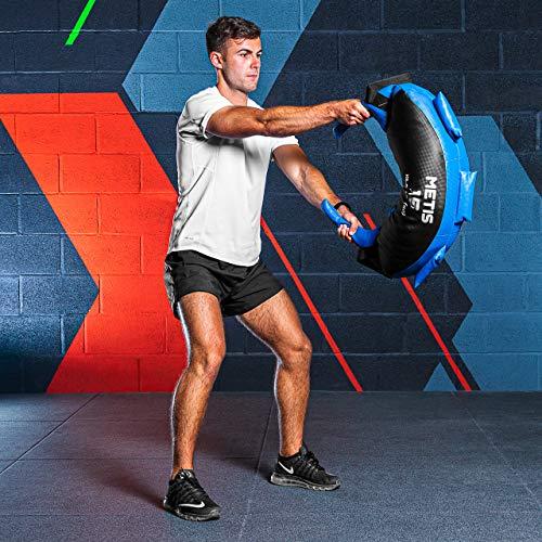 METIS Bulgarian Bag – 5kg bis 20kg   Crossfit Equipment und Krafttraining – Trainingsgerät für Fitnesscenter und Zuhause (10kg) - 2