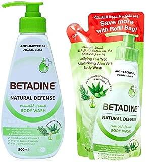 Betadine Body Wash Tea Tree Oil 500 ml & 400 ml Refill Bag