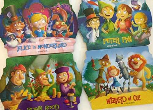 Classic Pop-Up Book (Assorted, Styles & Quantities Vary) Alice in Wonderland, Peter Pan, Robin Hood, and / or Wizard of Oz