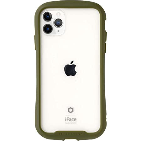 iFace Reflection iPhone 11 Pro ケース クリア 強化ガラス [カーキ]