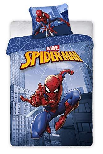 Aymax Marvel Spiderman Bettwäsche Set Baumwolle Bettbezug 135x200 cm + Kissenbezug 80x80 cm