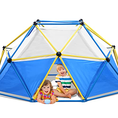 Jugader Dome Climber with Canopy, 8FT Climbing Dome for Kids 3-9, 1000LBS Capacity, Rust and UV Resistant Steel, Geo Jungle Gym for Indoor & Outdoor (3 Years Warranty)