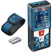 Bosch Professional Medidor láser de distancia GLM 50 C (transmisión de datos Bluetooth, sensor de inclinación de 360°, máx. distancia: 50 m, 2 pilas de 1,5 V, funda)