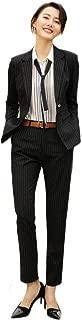 レディース スーツ セット 通勤 フォーマル ストライプ カジュアル スーツ 2点セット エレガント