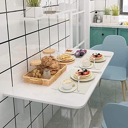 Mesa plegable de pared – Ahorra espacio- Mesa de comedor blanca – Mesa de pared – Mesa plegable – para espacios pequeños – 60 cm x 40 cm