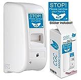 CGC, distributore automatico di sapone e disinfettante per le mani, con montaggio a parete, riempimento sfuso e mani libere