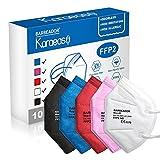 KARAEASY Mascherine Ffp2 Certificate CE 5 Strati Mascherina Ffp2 filtri 95% da 10 PC (Mix)
