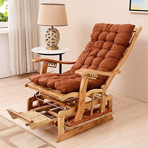 Liegestuhl Schaukel-Lounge-Stuhl Patio Zero Gravity Rocker Outdoor-Patio Garten-Liegesitz mit Kissen und Kissen , Klappbares Fußmassagegerät Lager 200 kg