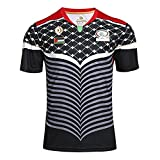 WSXZA 2017 Pálèstiná - Camiseta de rugby retro para hombre, camiseta de rugby, camiseta de fútbol de manga corta, talla L