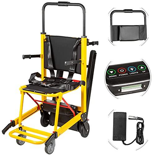 BrightFootBook Silla De Evacuación, Transporte Tanto para Subir como para Bajar Escaleras, Silla Auxiliar De Escalera para Ancianos, Sillas De Ruedas Plegables