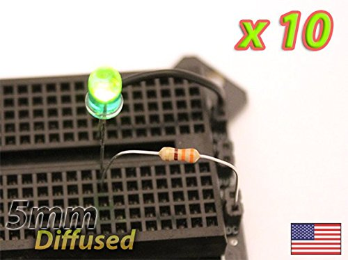 UPGRADE INDUSTRIES [10x] Green 5mm LED Diffused Lens - Mod your Car, or PC - FAST Shipping from USA by UPGRADE INDUSTRIES