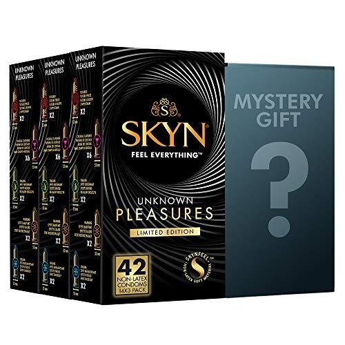 SKYN® Unknown Pleasures Edition Limited Preservatifs Sans Latex - Paquet de 42 + Cadeau Mystère Gratuit
