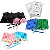 BARHAT - 510 pcs - Lash Extensions Supplies Kit - Spoolie Tools - Lash Lift - Eyelash Extension Accessories - GIFT 10 pairs eyepatch - 200 mascara wands - 200 microswabs - 100 lip wands disposable