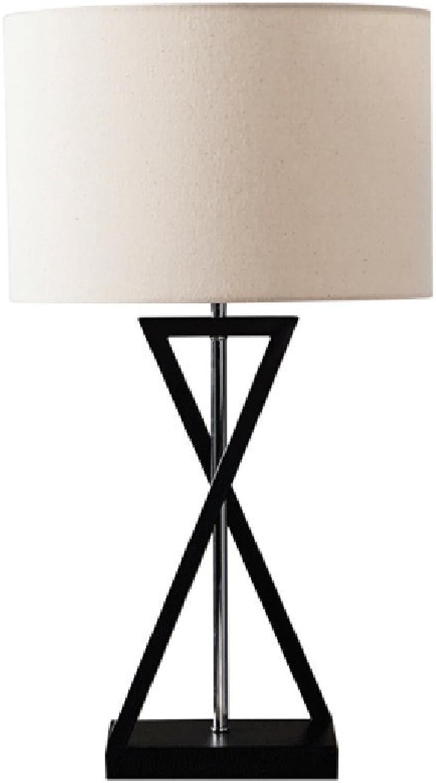 Nordic moderne minimalistische kreative Eisen Tischlampe, Stoff Schatten, Wohnzimmer Wohnzimmer Wohnzimmer Schlafzimmer Nachttischlampe, Hotel romantische Lampe, E27, schwarz B07G11L29B | Feine Verarbeitung  d5f922