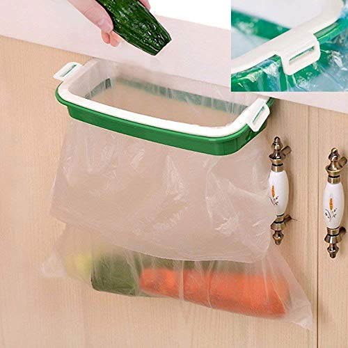 OYOY Edelstahl Trash Tasche Halter, grün und weiß, Plastic Trash Bag Holder
