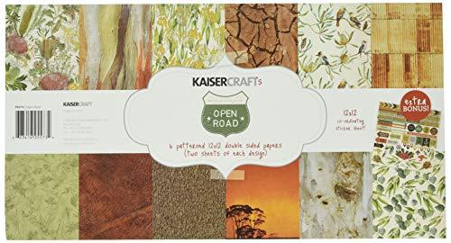 Kaisercraft Open Road Papierpack 30,5 x 30,5 cm, 12 Stück, 12-x-12-Inch