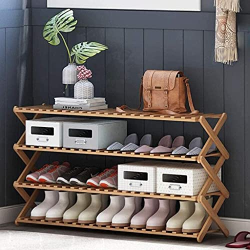 Zapatillas a prueba de polvo Cabina de madera Zapatillas de madera, Banco de almacenamiento  Closet, Baño, Cocina, Organizador de entrada, Tendero de calzado de ahorro de espacio de 4 niveles, 100 cm