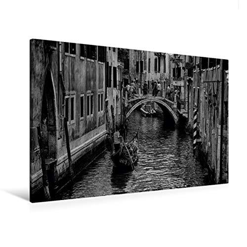 Premium Textil-Leinwand 120 x 80 cm Quer-Format Gondel in Venedig | Wandbild, HD-Bild auf Keilrahmen, Fertigbild auf hochwertigem Vlies, Leinwanddruck von Sergej Dimmel