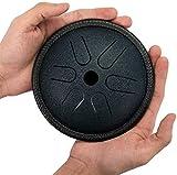 PIAOLIGN instrumentos de percusión, Mini, Lotus Handpan Drum Hue Instrumento de Percusión para la Música Educación Concierto Mente Curación Yoga, Hecho en Estados Unidos (Color: Bronce)