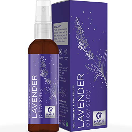 Sleep Aromatherapy Lavender Oil Spray - Lavender Essential Oil Spray and Bed Linen Spray for Sheets - Non Staining Chamomile Lavender Pillow Spray for Sleep and Lavender Linen Spray for Bedding