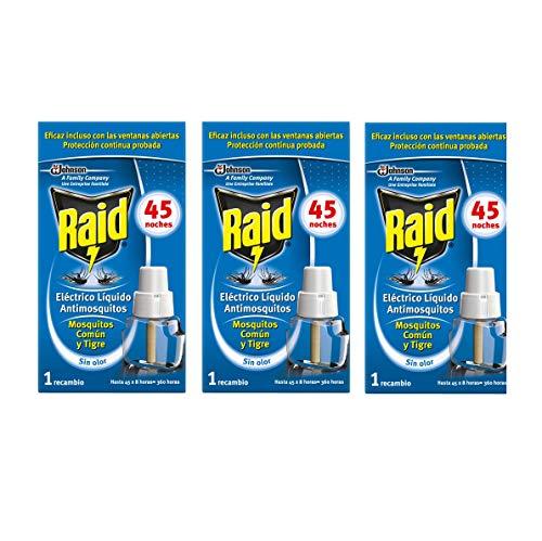 profesional ranking Raid-Reemplazo de Difusor Eléctrico de Mosquitos y Mosquitos Tigre, 3 x 45 Noches (Pack 3… elección