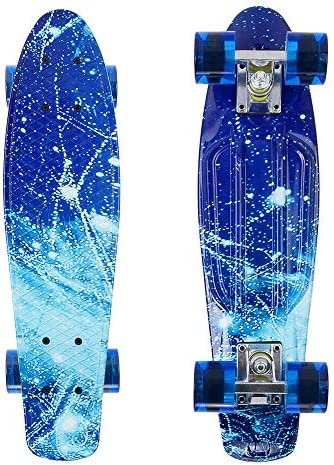 22 Cruiser Skateboard Penny Style Board Graphic Galaxy Space Free Shipping