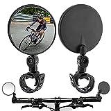Fahrradspiegel 2er-Pack, Fahrradspiegel für Lenker, 360 drehbare Lenker-Fahrradrückspiegel, Upgrade Stoßfester konvexer Spiegel für Rennrad- / MTB- / Offroad-Fahrrad- / Fixed-Gear-Fahrradlenker (2)