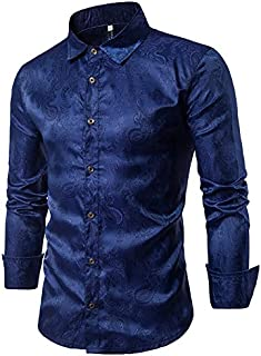 قمصان رجالية من Cloudstyle مطرزة بأكمام طويلة مقاس XXL