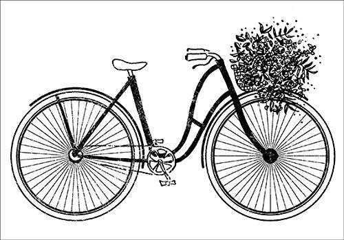 Artemio Stempel Fahrrad 37x 53mm, Holz, 37x 53mm