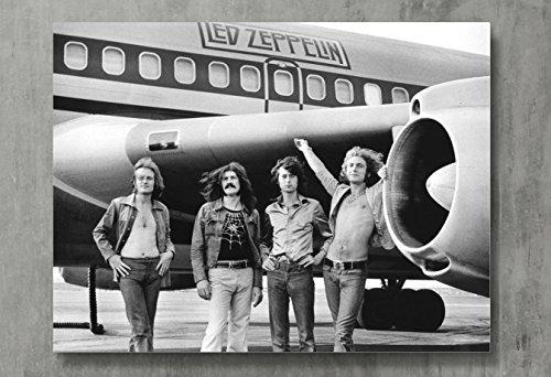 Led Zeppelin Poster – Zeppelin Kunstdruck auf Leinwand, klassischer Rock-Wandkunst, Posterdruck, Standardgröße 45,7 x 61 cm