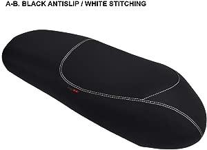 Funda de Asiento para Keeway Logik 150 Negro-Costura Blanca