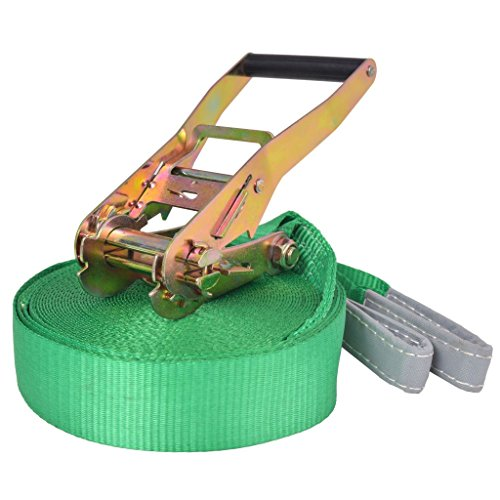 vidaXL Slackline Equilibrio 15 m x 50 mm 150 kg Verde Cuerda de Equilibrista