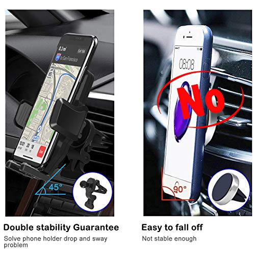 Zeuste Cell Phone Holder for Car Air Vent Phone Holder Car Mount Compatible with iPhone Xs MAX/XR/X/8/8Plus/7/7Plus/6s, Galaxy S10/S9/S8 Pixel and More