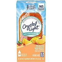 Crystal Light On the Go Drink Mix, Peach Mango with Caffeine ピッチマンゴー(カフェイン含有)10パケット [海外直送品]