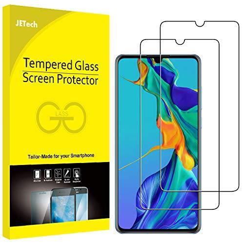 JETech Protection Écran Compatible avec Huawei P30, Film de Protection en Verre Trempé, Lot de 2