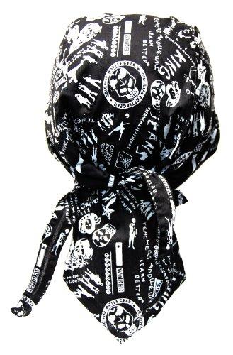 Rocker & Biker Bandana Cap (zwart & wit)